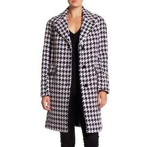kate spade new york Houndstooth Wool Blend Coat